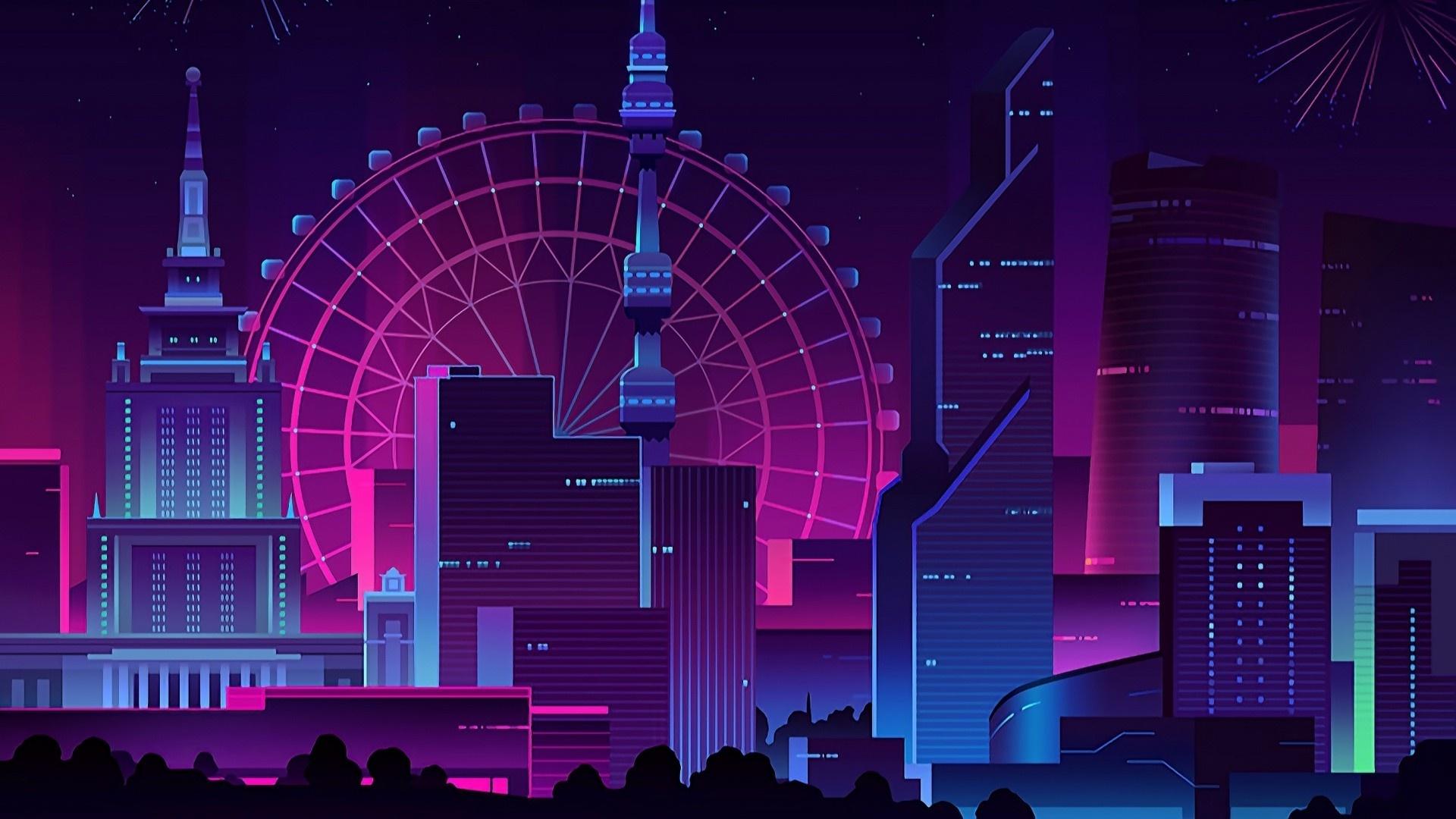 Neon 1080p wallpaper