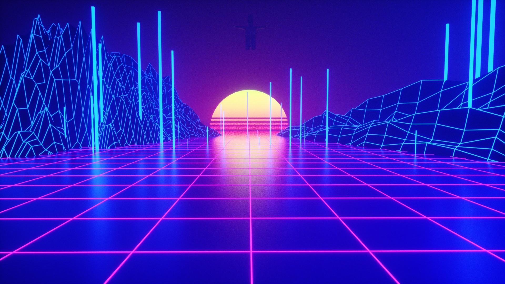 Neon background wallpaper