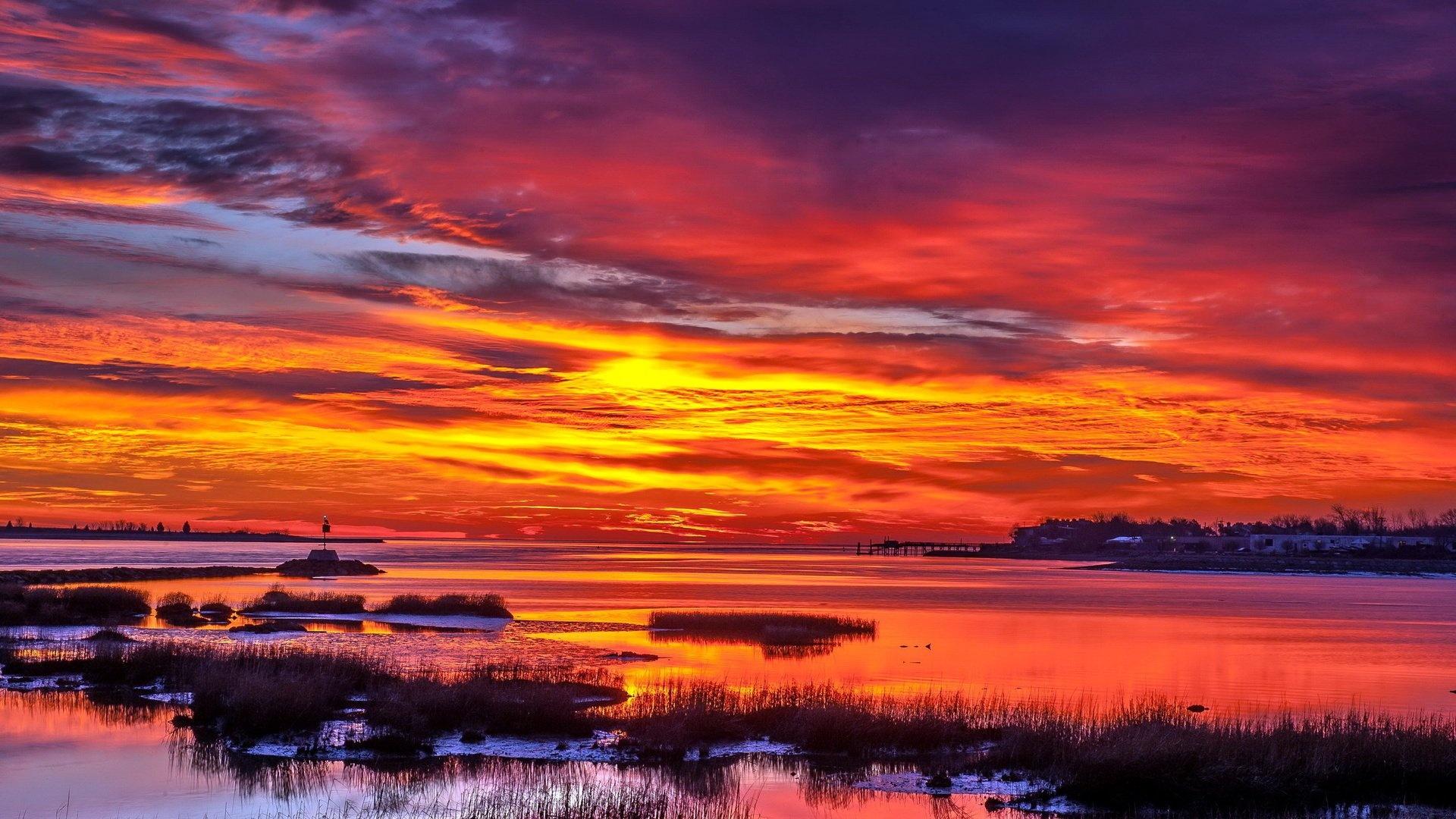 Sunset computer background