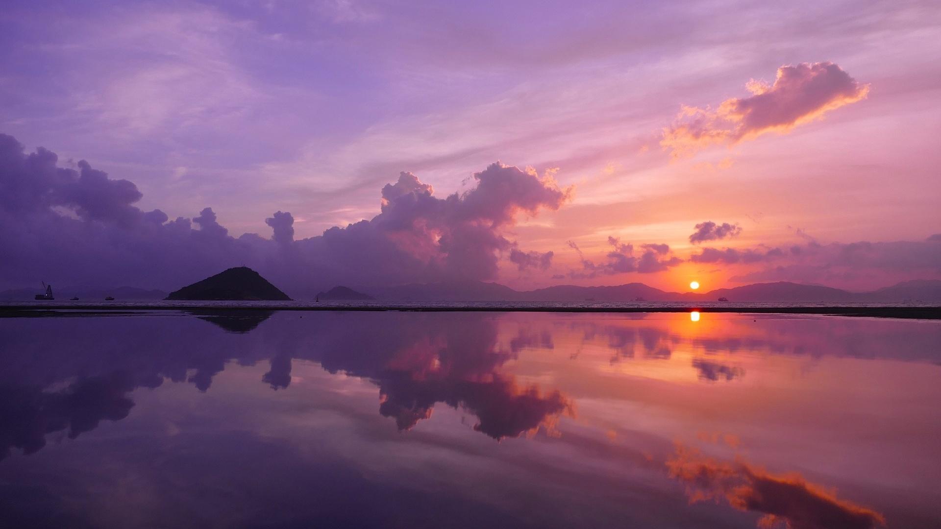 Sunset 1080p wallpaper