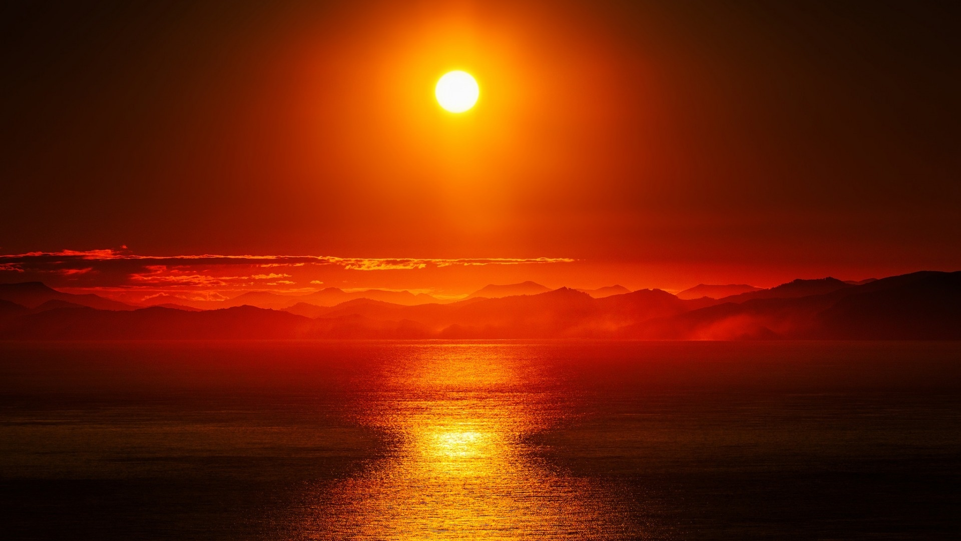 Sunset cool wallpaper