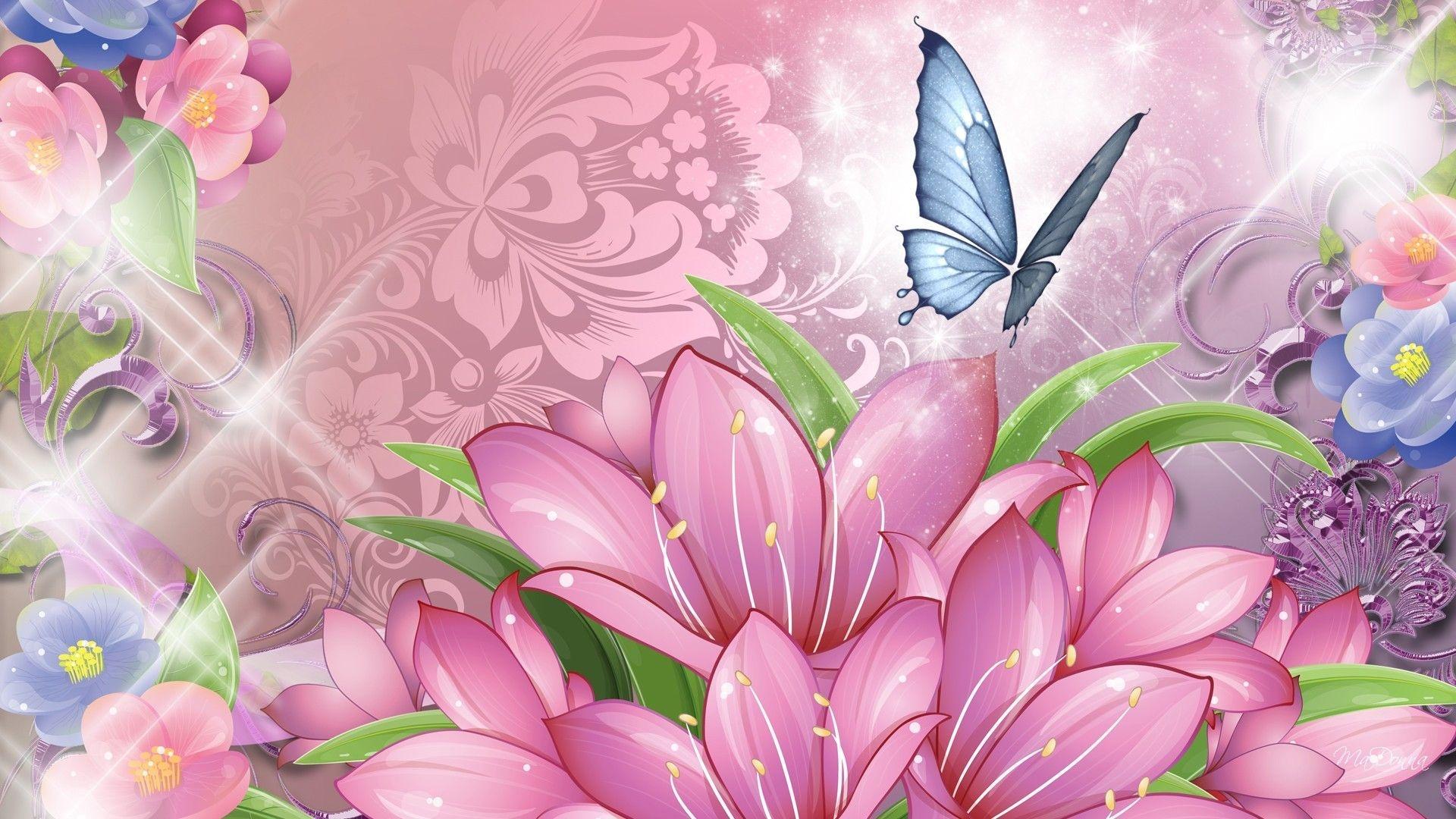 Butterfly free wallpaper