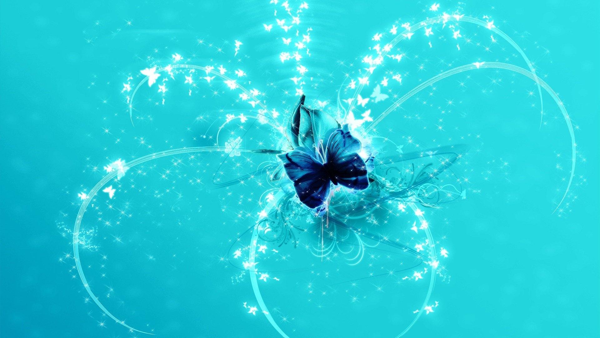 Butterfly windows background