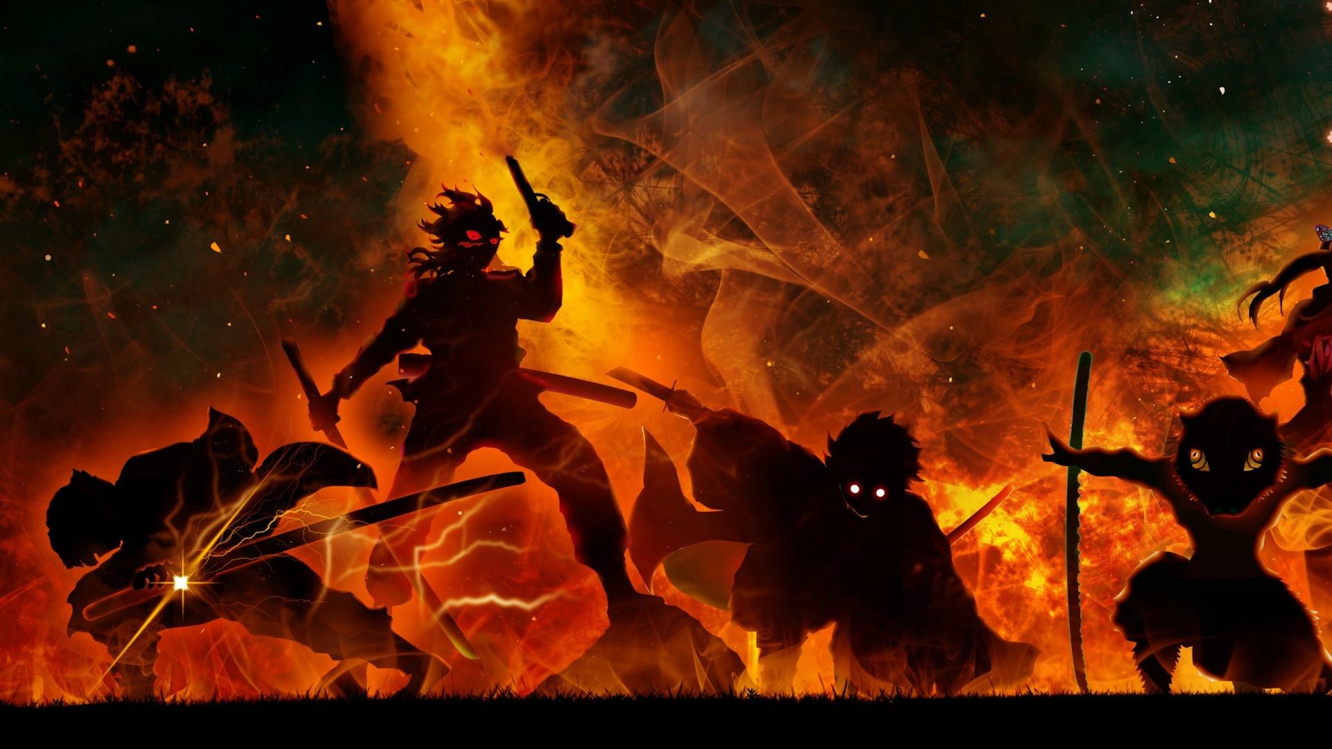 Demon Slayer desktop background