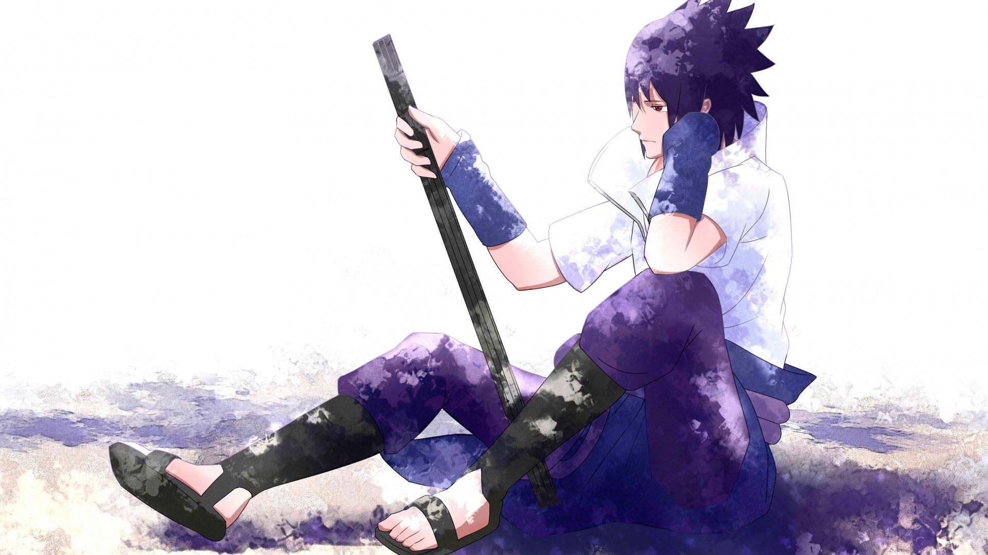 Download 1920x1080 Uchiha Sasuke Sword Profile View .jpg free photo
